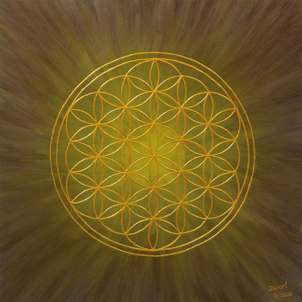 Blume des Lebens Bild - Element Erde
