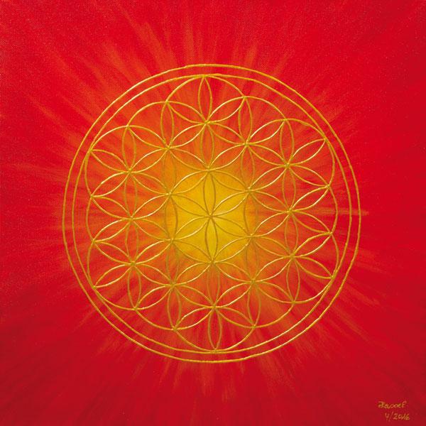 Blume des Lebens Bild - Element Feuer