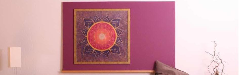 Blume des Lebens bei Gabriele im Wohnzimmer