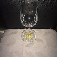 Weinglas Untersetzer mit Blume des Lebens