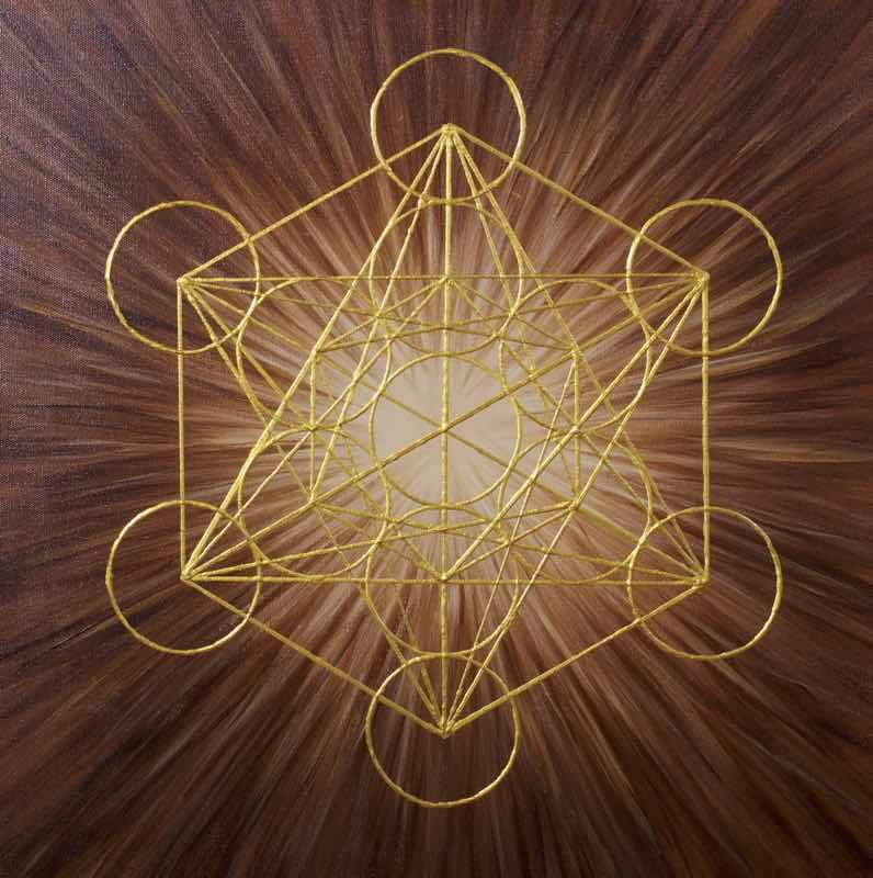 Energiebild: Brauner Würfel des Metatron