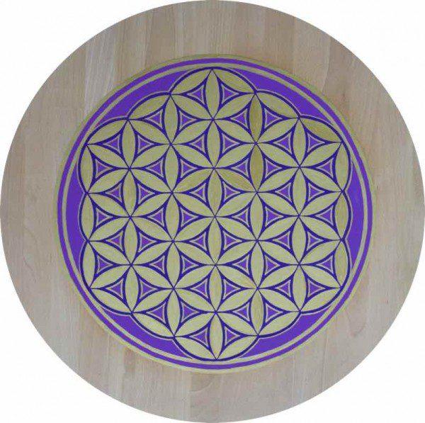 Meditations Tablett Energie - Blume des Lebens