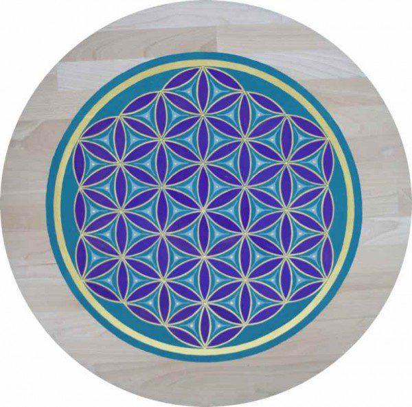 Meditations Tablett Erdung - Blume des Lebens