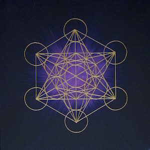 Metatron in the Universe - handgemaltes Energiebild