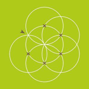 Blume des Lebens zeichnen - Schritt 6