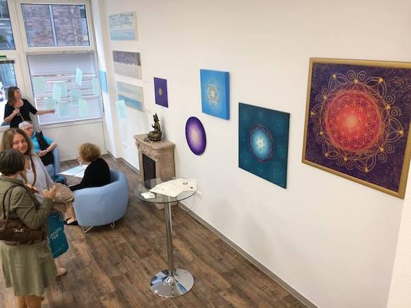 Ausstellung Elysium in der Galerie für spirituelle Kunst in Bremen - Energiebilder von Birgit Hassel
