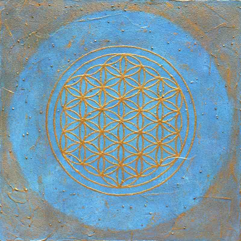 Energiebild: Hals-Chakra Blume des Lebens