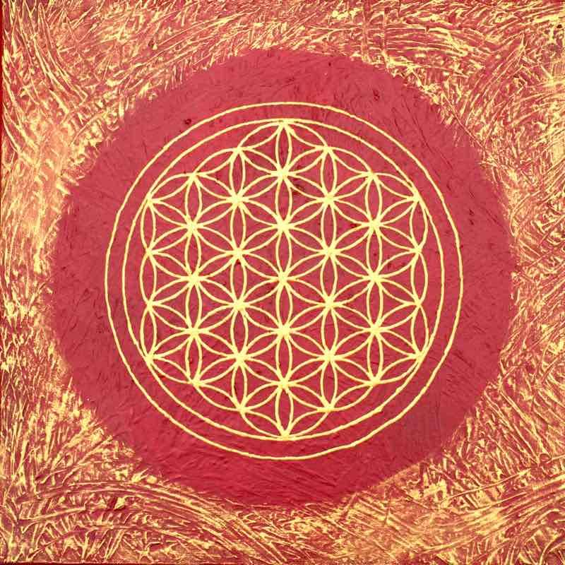Energiebild: Wurzel-Chakra Blume des Lebens