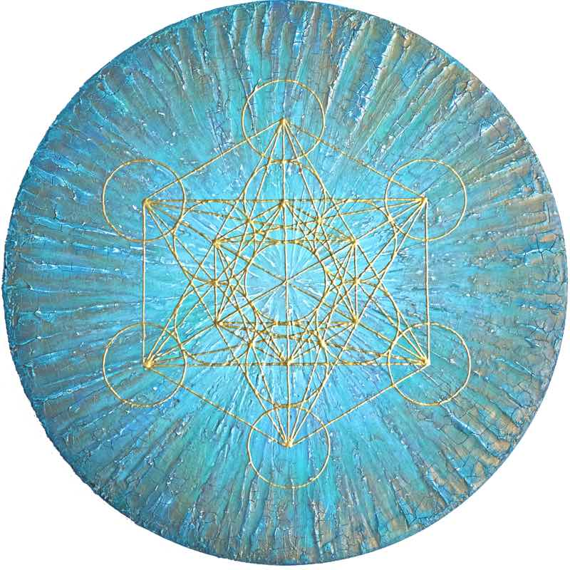 Metatron in the Ocean - handgemaltes Energiebild