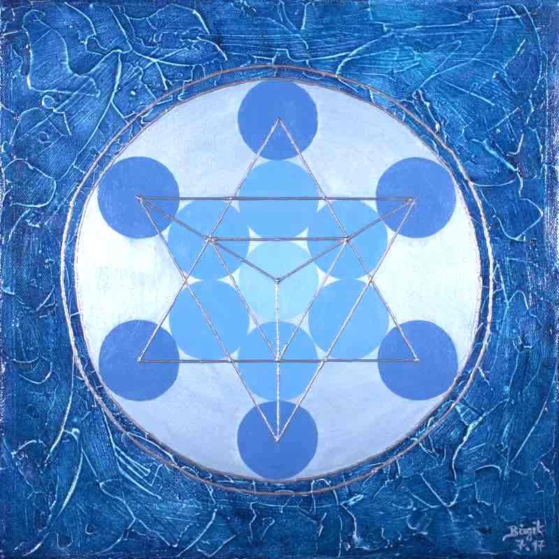 Blume des Lebens Bild - Auftragsarbeit: Blauer Tetraeder