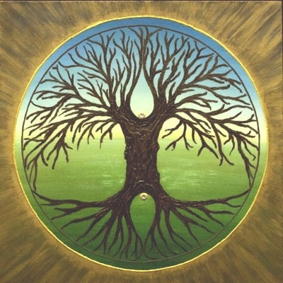 Tree of Paradise 50 x 50 cm - handgemaltes Energiebild