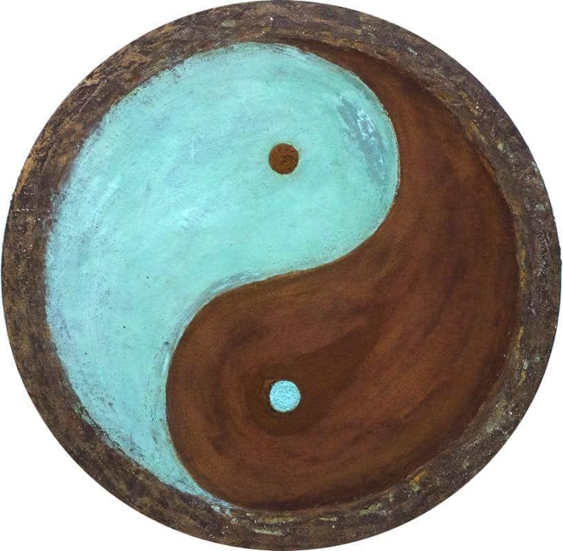 Yin Yang Harmony, rund 80 cm - handgemaltes Energiebild