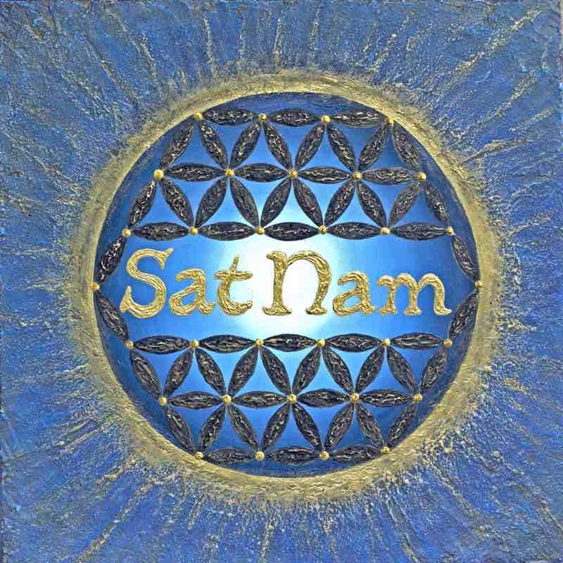 Higher Self, Sat Nam Mantra, 50 x 50 cm - handgemaltes Energiebild