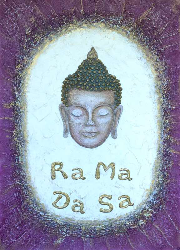 Healing, Ra Ma Da Sa Mantra, 70 x 50 cm - handgemaltes Energiebild