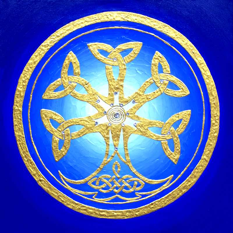 Celtic Tree, 40 cm - handgemaltes Energiebild