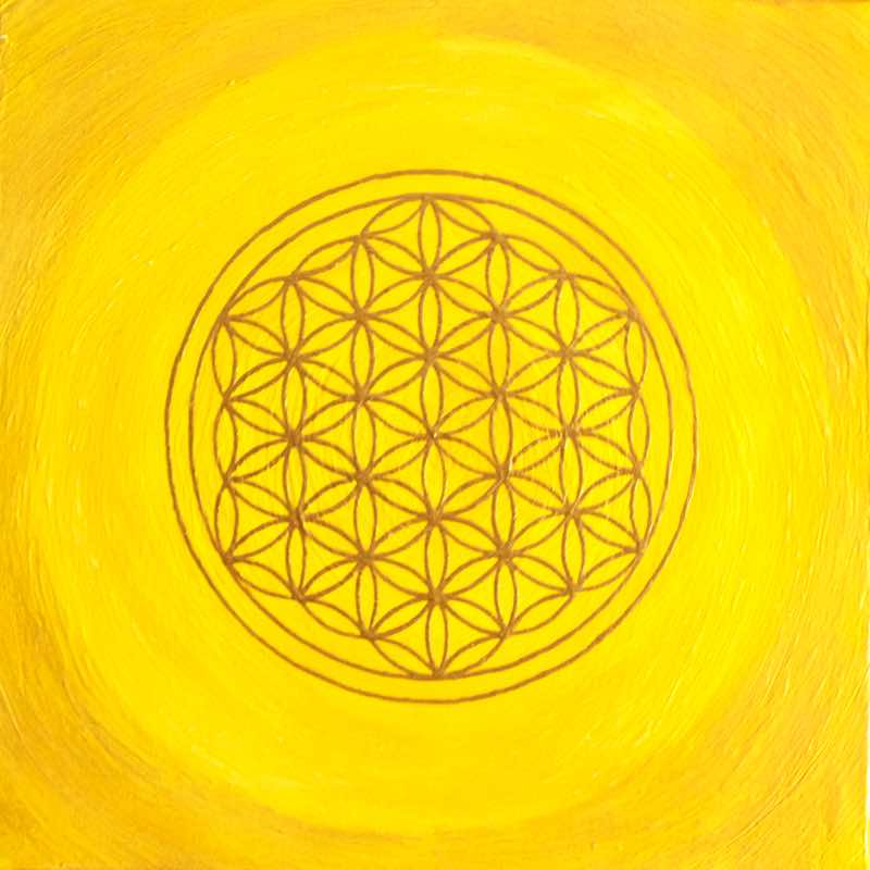 Solarplexus-Chakra Blume des Lebens