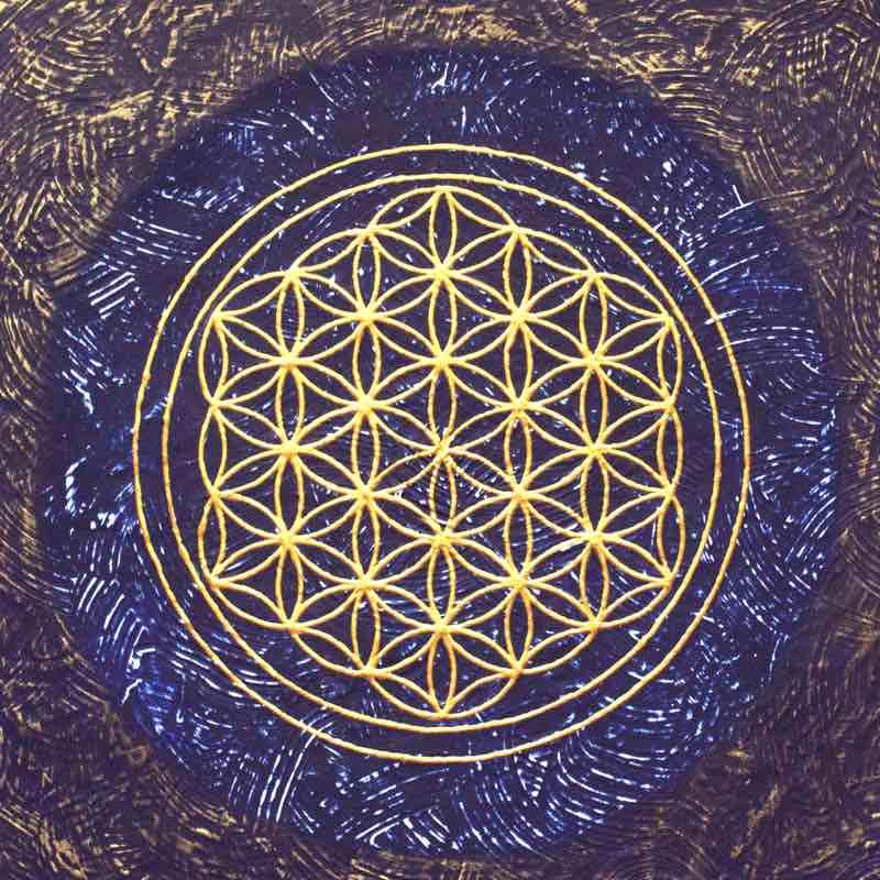 Stirn-Chakra Energiebild Blume des Lebens