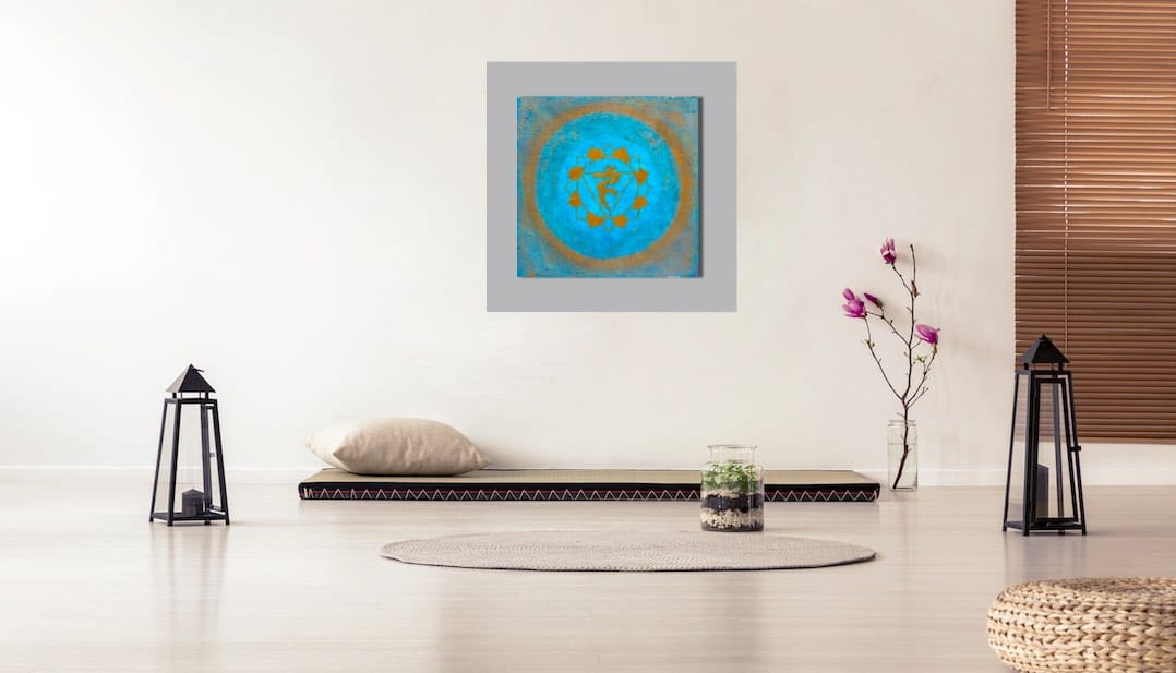 Das Halschakra - handgemalte Chakra Energiebilder online kaufen