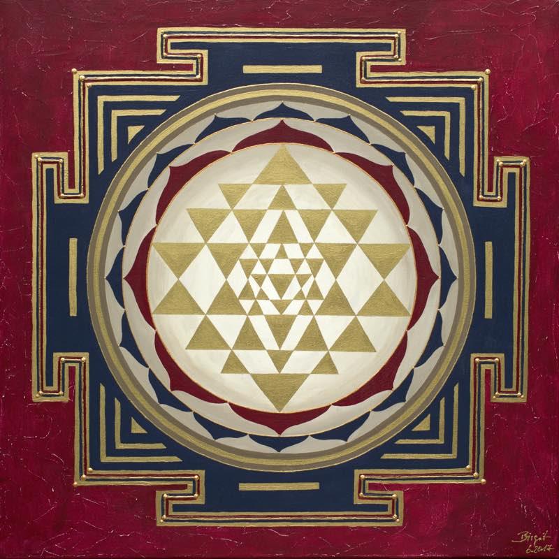 Energiebild - Golden Sri Yantra