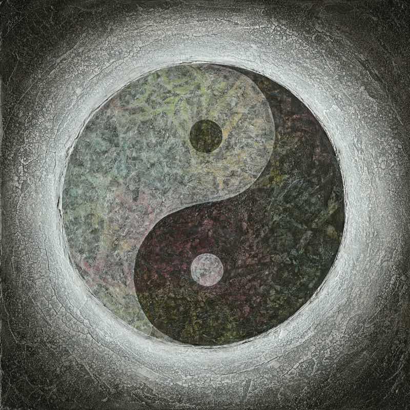 Yin Yang als Motiv für Deine Rückwand