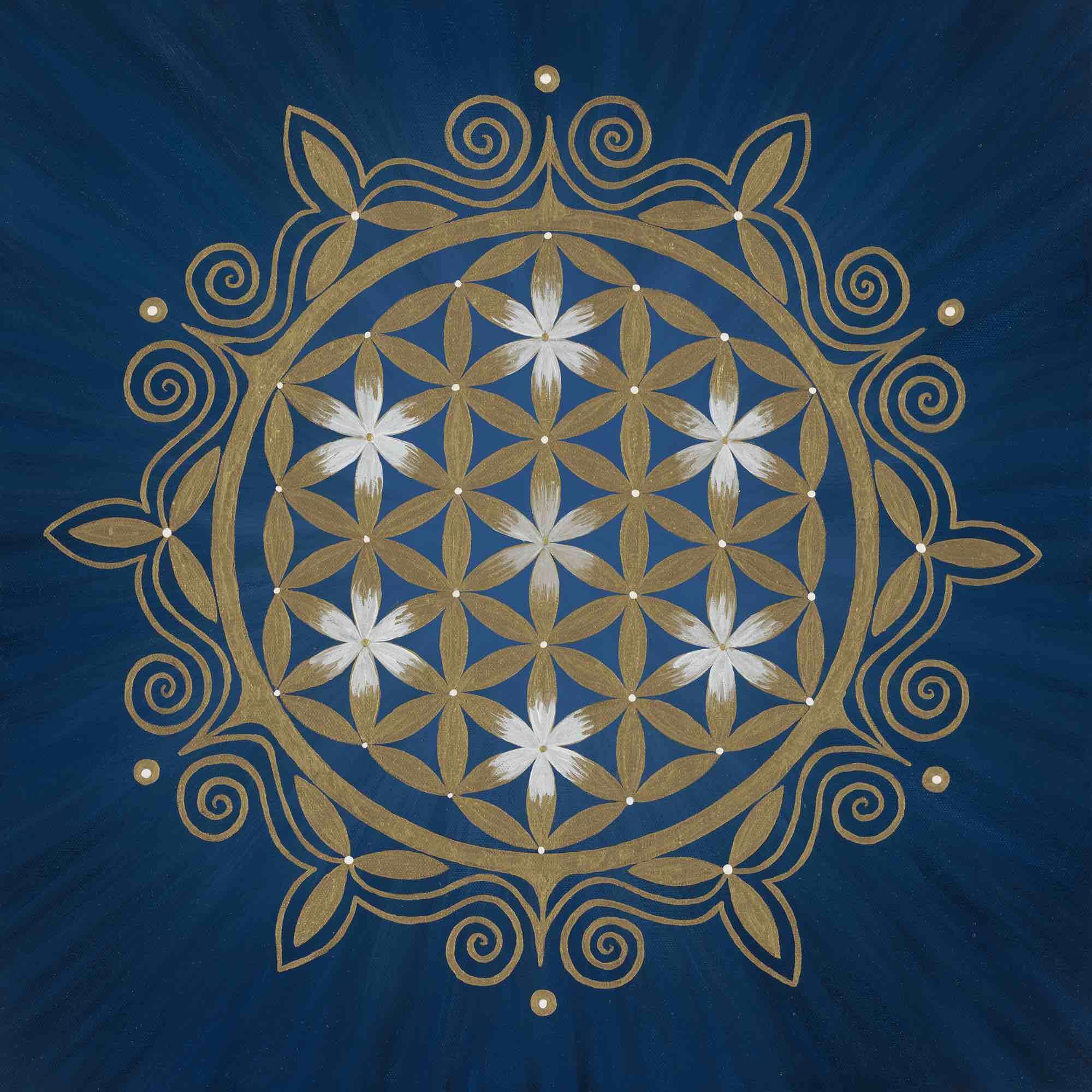 Leinwanddruck - Blume des Lebens - Blume des Orients
