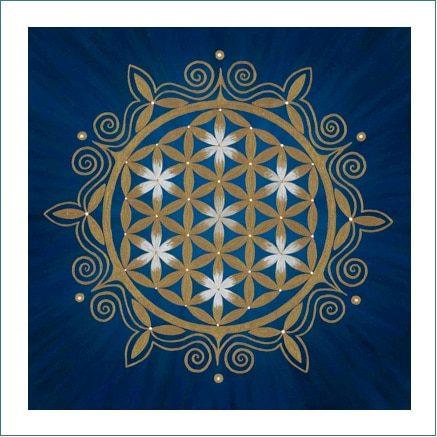 Poster - Blume des Lebens - Blume des Orients