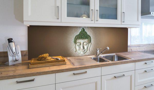 Buddha als Motiv für Deine Küchenrückwand