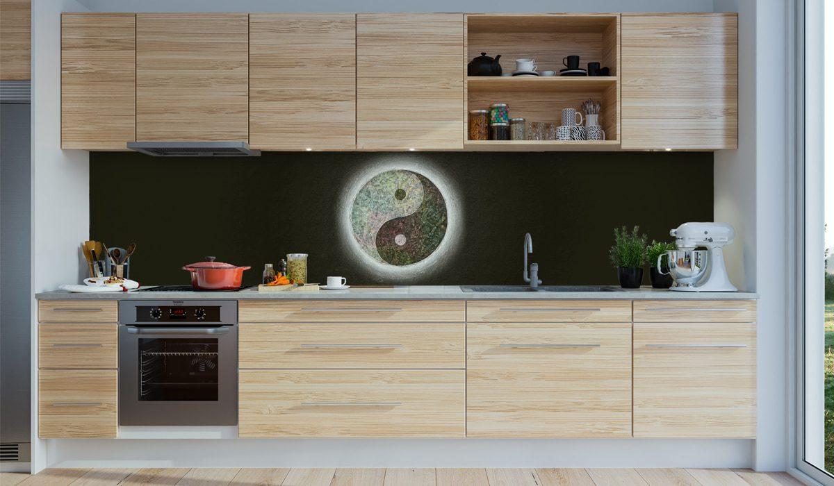 Yin Yang als Motiv für Deine Küchenrückwand