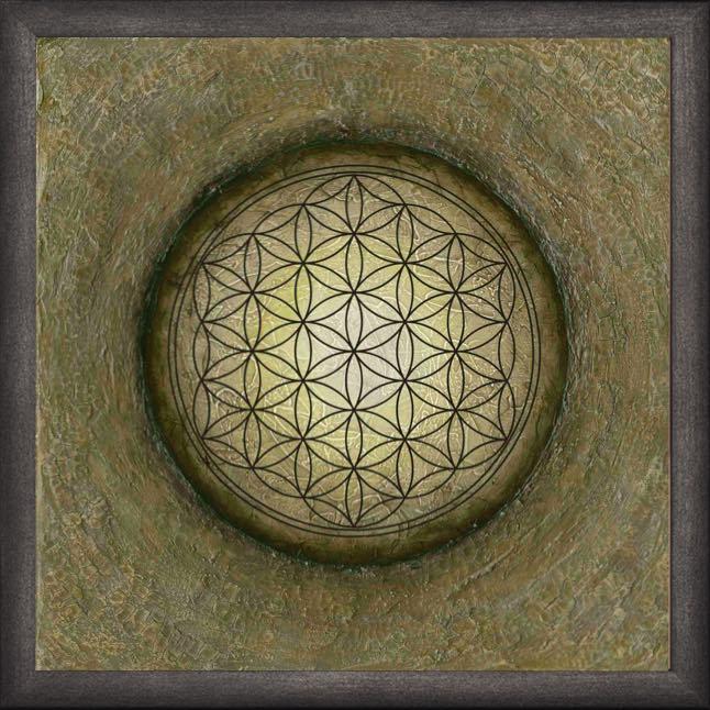Poster mit Rahmen - Blume des Lebens - La Luna