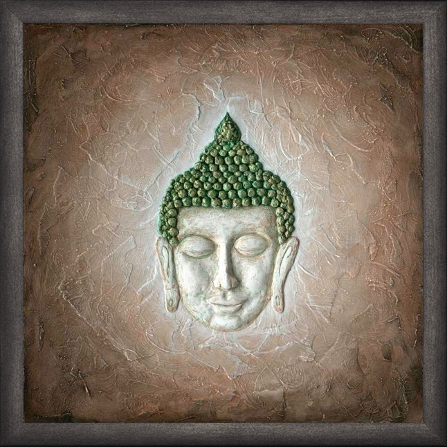 Poster mit Rahmen - Ruhender Buddha
