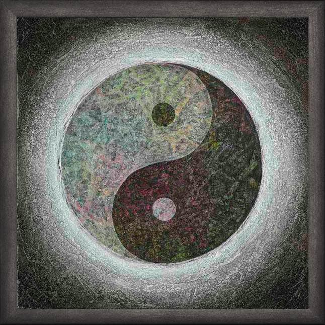 Poster mit Rahmen - Yin Yang - Taijitu
