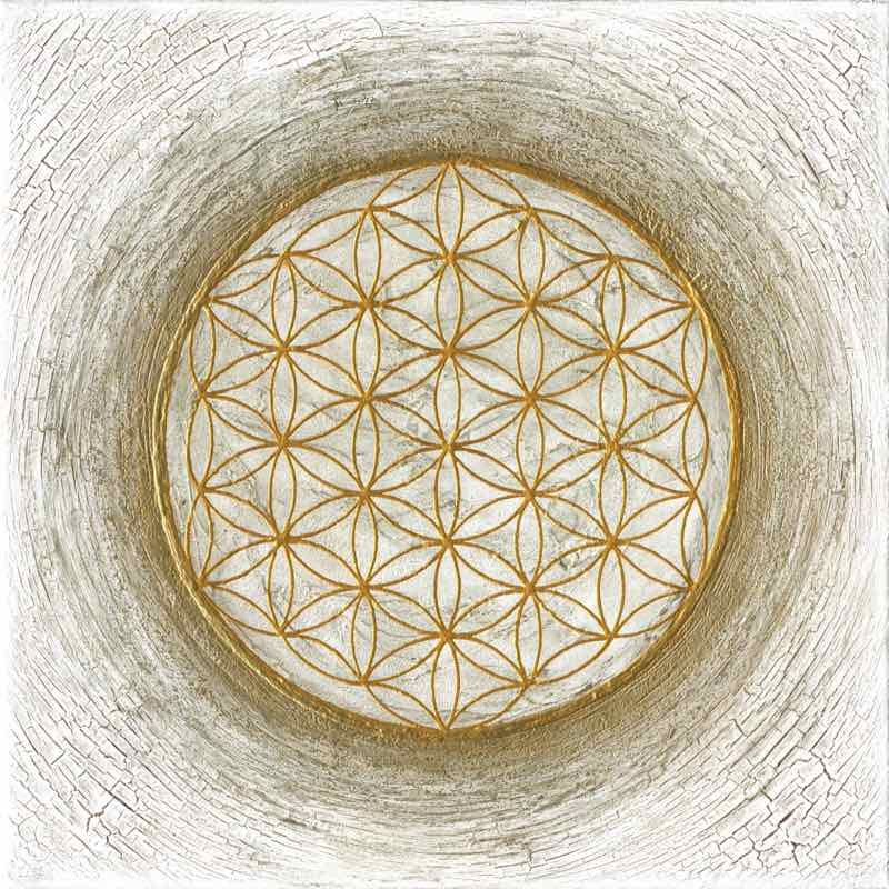 Leinwanddruck - Blume des Lebens - Desert Dream