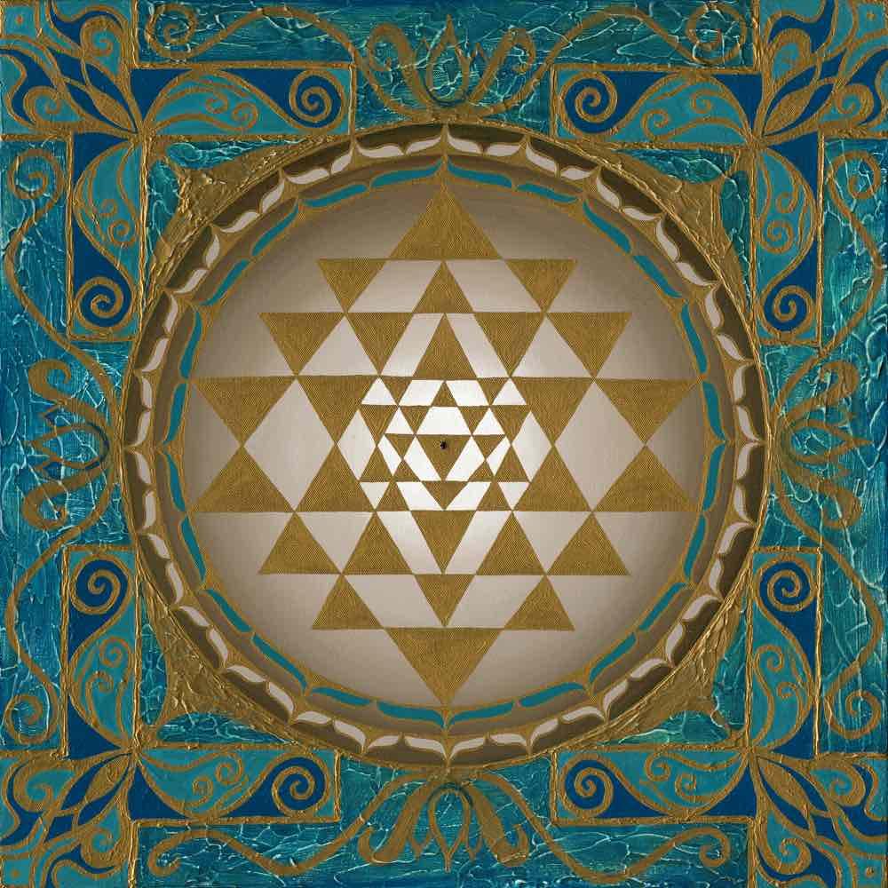 Sri Yantra Energiebilde - Beauté de l´univers