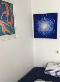 Handgemaltes Original: Blau strahlender Metatron