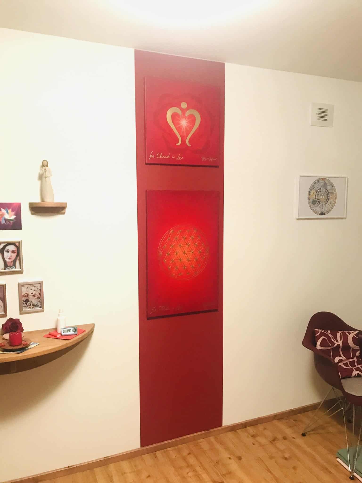 Sri Yantra Leinwanddruck fürs Wohnzimmer