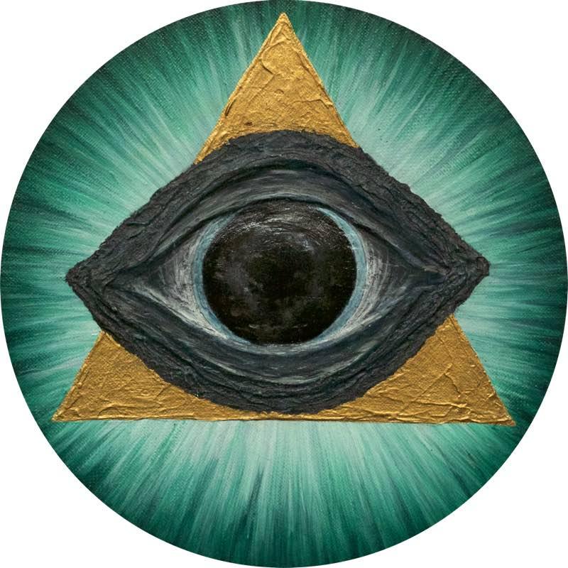 Wal-Auge, rund 20 cm - handgemaltes Energiebild