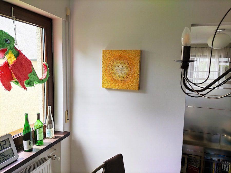 Blume des Lebens Auftragsarbeit für das Esszimmer - Bright Shining Light