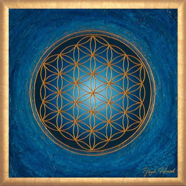 Poster Divine Silence mit Rahmen
