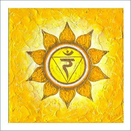 Poster Solarplexuschakra Lebenslust